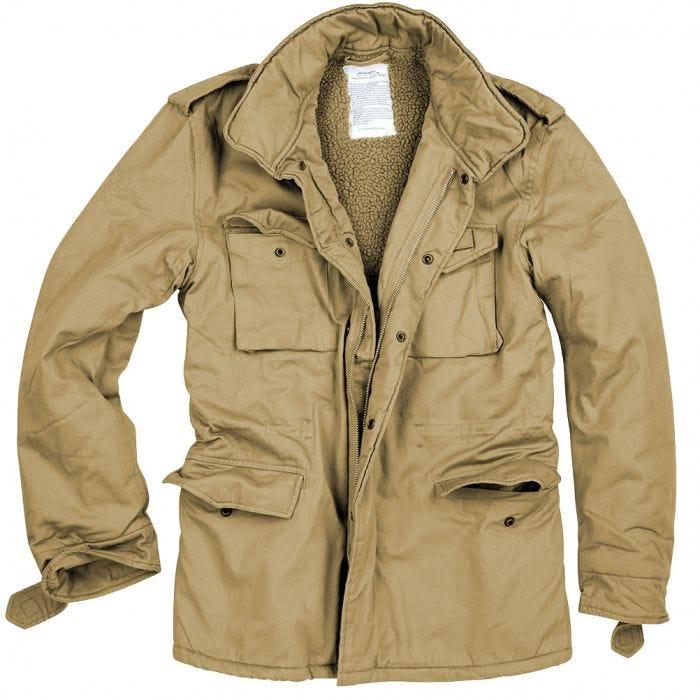 Surplus Paratrooper Winter Jacket Beige Washed 664479d24e07