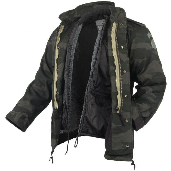 555285d494644 Surplus M65 Regiment Jacket Black Camo