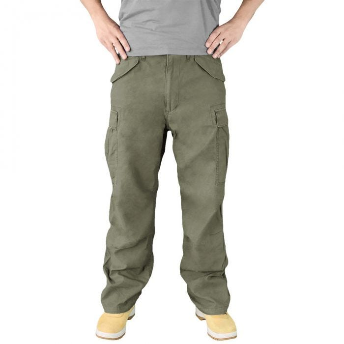 Surplus Vintage Fatigues Trousers Olive