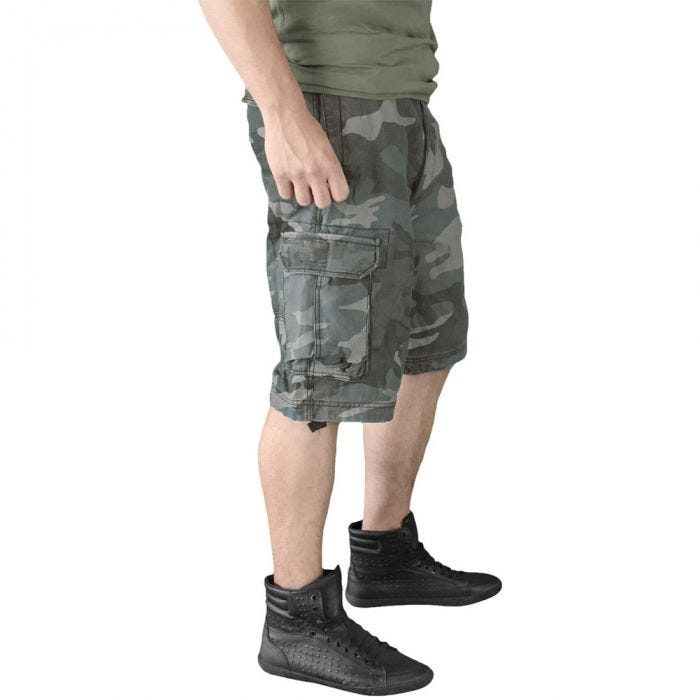 Surplus Vintage Shorts Washed Night Camo