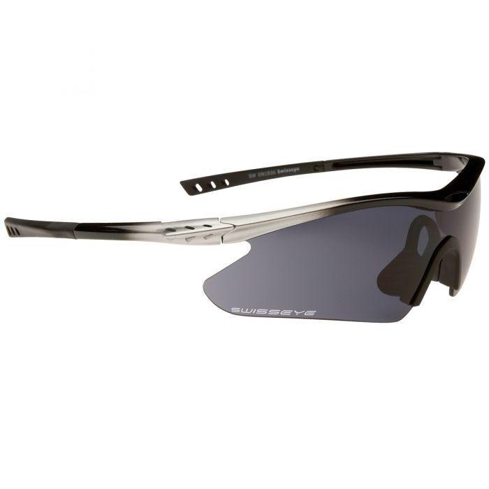 Swiss Eye F-16 Glasses Silver/Black Frame