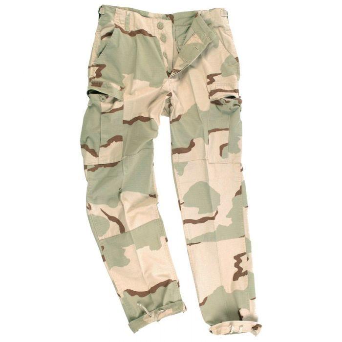 Teesar BDU Trousers Ripstop Prewashed 3-Colour Desert