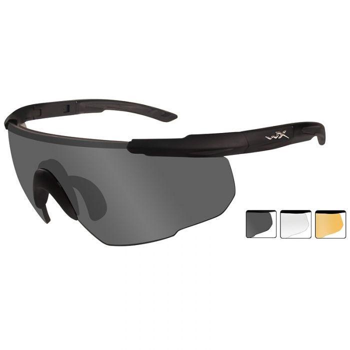 e6f9cf45eb Wiley X Saber Advanced - Smoke Grey + Clear + Light Rust Lens   Matte Black