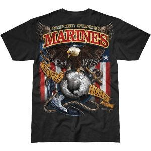 7.62 Design USMC Fighting Eagle Battlespace T-Shirt Black