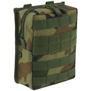 Brandit Cross MOLLE Pouch Woodland