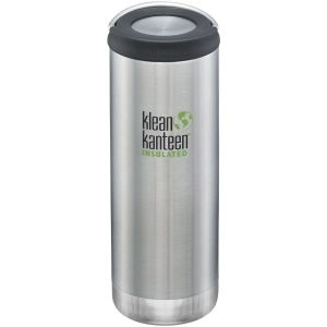 Klean Kanteen TKWide 473ml Insulated Bottle Loop Cap Brushed Stainless