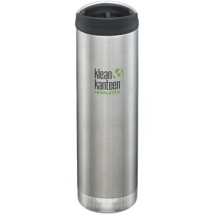 Klean Kanteen TKWide 591ml Insulated Bottle Cafe Cap 2.0 Brushed Stainless