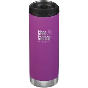 Klean Kanteen TKWide 473ml Insulated Bottle Cafe Cap 2.0 Berry Bright