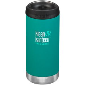 Klean Kanteen TKWide 355ml Insulated Bottle Cafe Cap 2.0 Emerald Bay