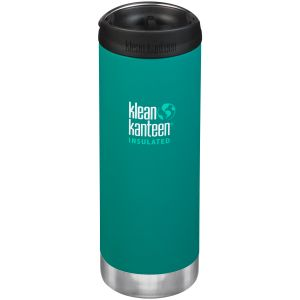 Klean Kanteen TKWide 473ml Insulated Bottle Cafe Cap 2.0 Emerald Bay