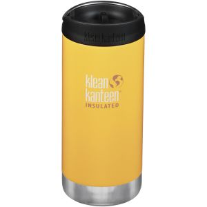 Klean Kanteen TKWide 355ml Insulated Bottle Cafe Cap 2.0 Lemon Curry