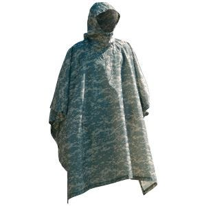 Waterproof Poncho Ripstop ACU Digital