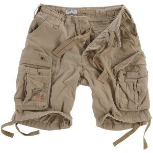 Surplus Airborne Vintage Shorts Washed Beige