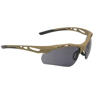 Swiss Eye Attac Sunglasses - Smoke + Orange + Clear Lens / Rubber Coyote Frame