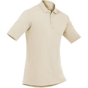 First Tactical Men's Cotton Short Sleeve Polo with Pen Pocket Khaki