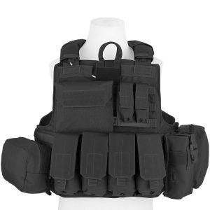 Flyye Force Recon Vest with Pouch Set ver. Mar Black
