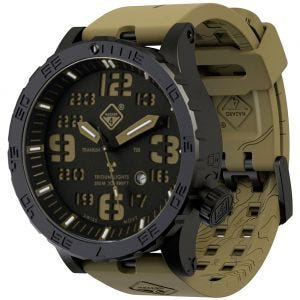 Hazard 4 Heavy Water Diver Titanium Tritium Watch Cavern Green/Yellow
