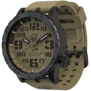 Hazard 4 Heavy Water Diver Titanium Tritium Watch Arid Brown GMT Green/Yellow