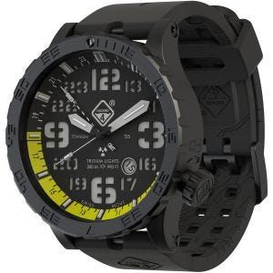 Hazard 4 Heavy Water Diver Titanium Tritium Watch Nightwatch Yellow GMT Green/Yellow