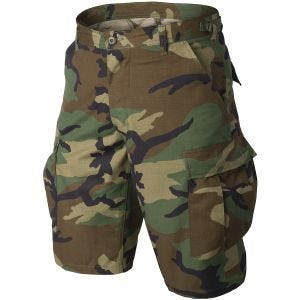 Helikon Genuine BDU Shorts Cotton Ripstop Woodland
