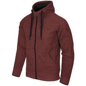 Helikon Covert Tactical Hoodie Full Zip Melange Red