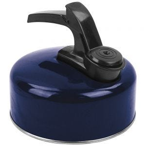Highlander Small Aluminium Whistling Kettle Dark Navy Blue