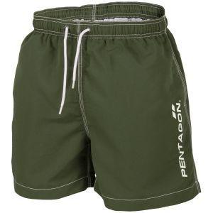 Pentagon Hippocampus Swimming Shorts Olive Green