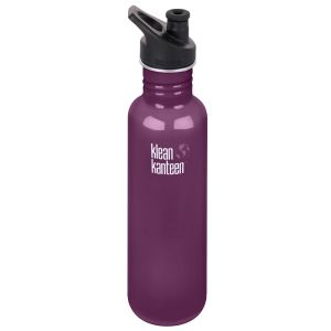 Klean Kanteen Classic 800ml Bottle with Sport Cap 3.0 Winter Plum