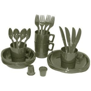 MFH Camping Plastic Mess Kit 26 Pieces