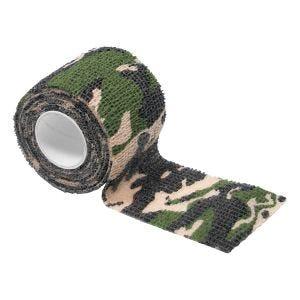 MFH Fabric Self Adhesive Camo Tape 5cm x 4.5m Woodland
