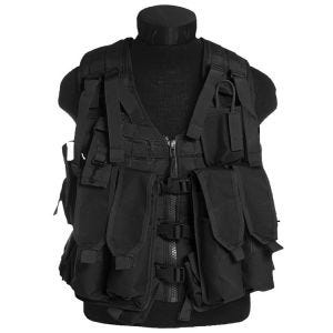 Mil-Tec AK74 Vest with Pouches Black