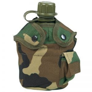 Mil-Tec US Style Canteen and Cup Woodland