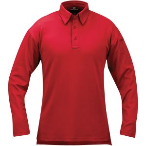 Propper I.C.E. Men's Performance Long Sleeve Polo Red