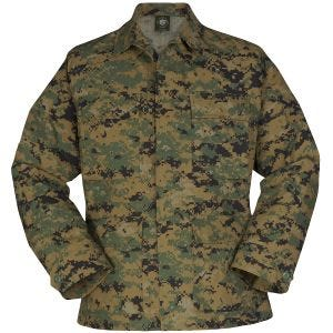 Propper Uniform BDU Coat Polycotton Ripstop Digital Woodland