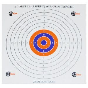 SMK Colour Centre 17cm Card Targets (100 Pack)