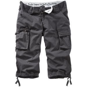 Surplus Trooper Legend 3/4 Shorts Black Washed