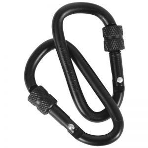 Web-Tex Warrior Locking Carabiners 6mm Black