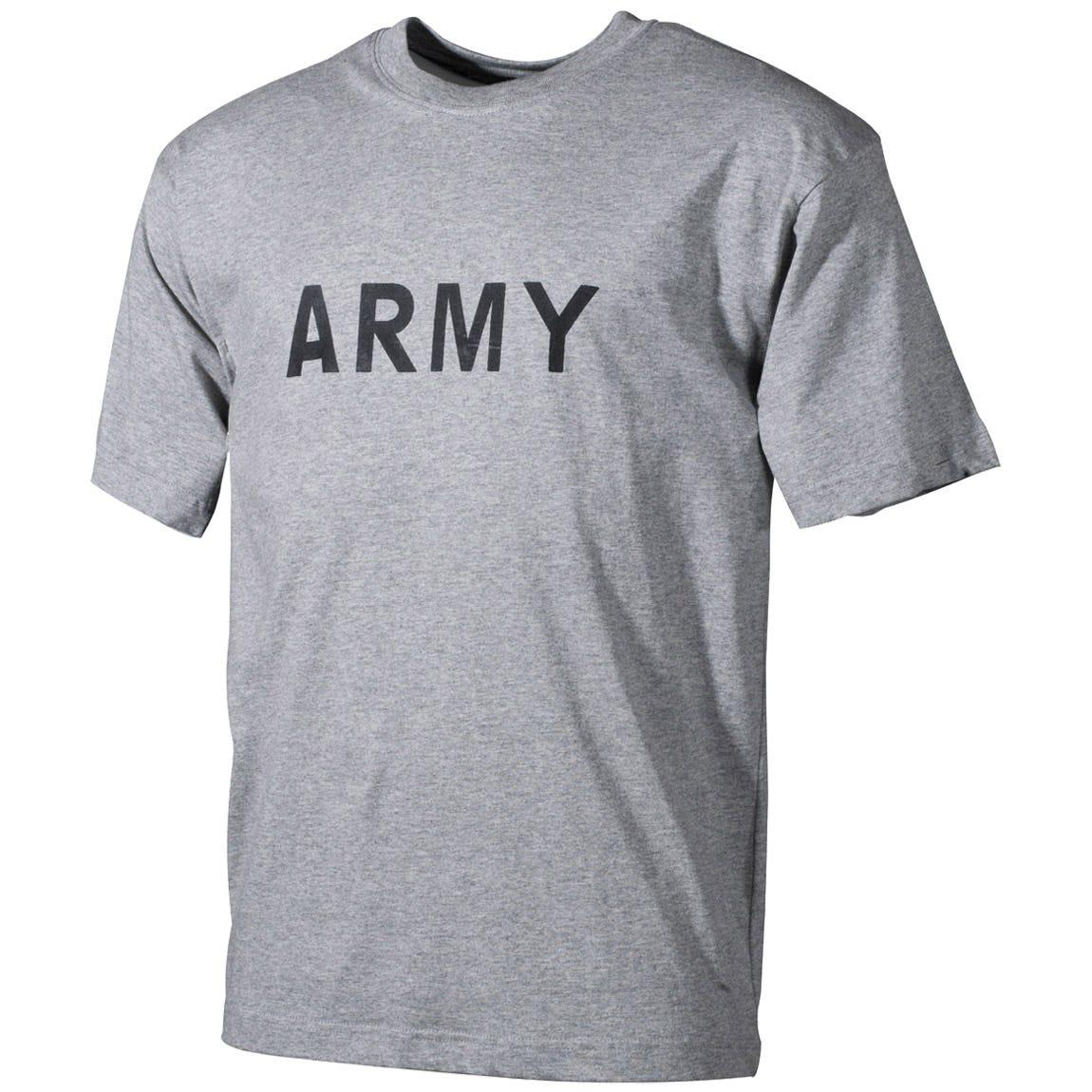 MFH T-shirt Grey with Army Print f41781539ed